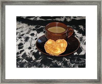 Coffee Served With Love Framed Print by Ausra Huntington nee Paulauskaite