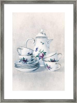 Coffee Set Framed Print