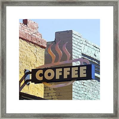 Coffee Shop Framed Print by Art Block Collections