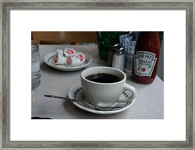 Coffee Shop Nyc Framed Print by Heidi Horowitz