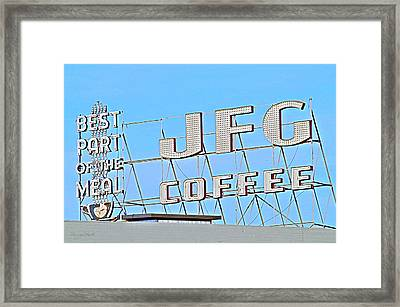 Coffee Sign Framed Print