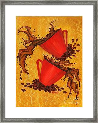 Coffee Splash Framed Print