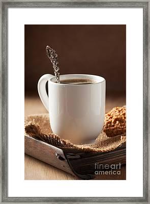 Coffee Spoon Framed Print by Amanda Elwell