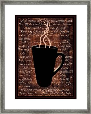 Coffee Time Framed Print by Barbara St Jean