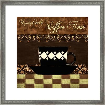 Coffee Time Framed Print by Lourry Legarde