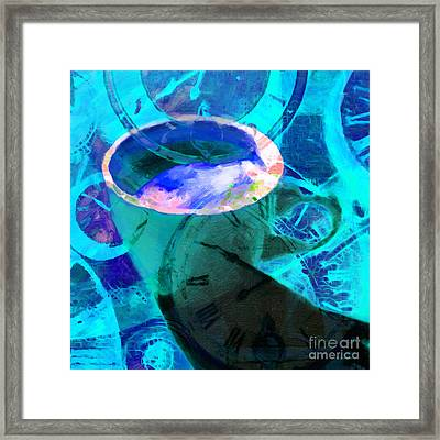 Coffee Time My Time 5d24472p168 Square Framed Print by Wingsdomain Art and Photography