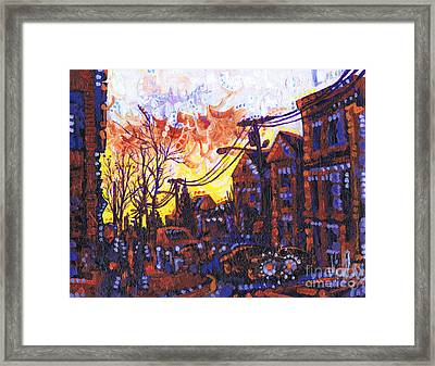 Coffee Time Sunset Framed Print