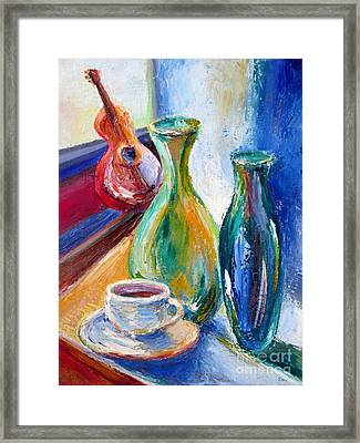 Coffee Vases  Framed Print by Frederick  Luff