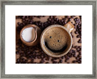 Coffee With A Smile Framed Print by Aaron Aldrich