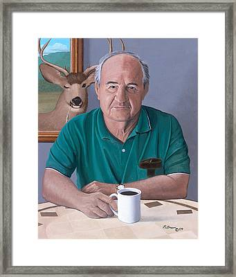 Coffee With Bob Friend Of Nature Framed Print