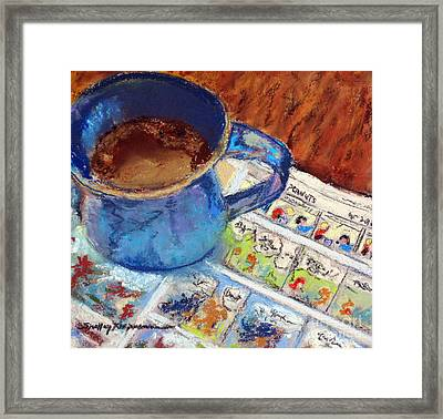 Coffee With Peanuts Framed Print by Shelley Koopmann