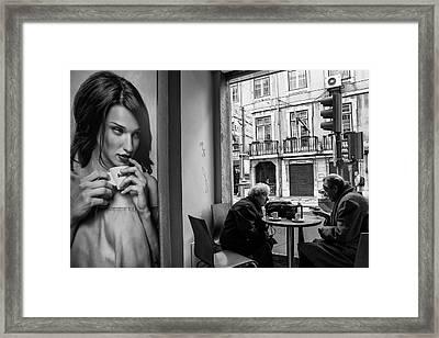 Coffeea?s Conversations Framed Print