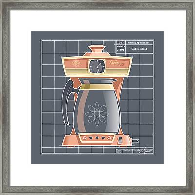 Coffeemaid - Coral Framed Print