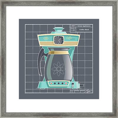 Coffeemaid -aqua Framed Print