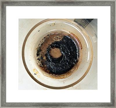 Coffeepot With Black Burnt In Coffee Framed Print