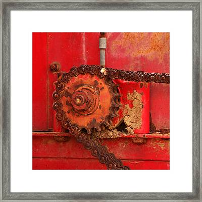Cog And Chain Framed Print by Art Block Collections