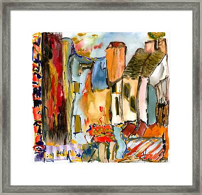 Cognac And Chablis Framed Print by Lesley Fletcher