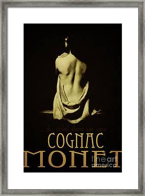Cognac Monet Framed Print by Cinema Photography