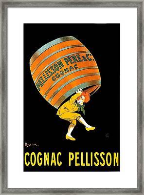 Cognac Pellisson Advertising Poster Framed Print