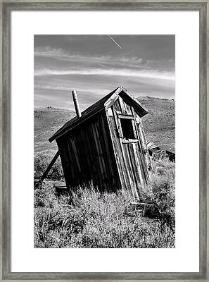 Cognitive Dissidence Bw Framed Print by Denise Dube