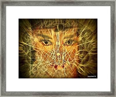 Cognitive Processes Which Emanate Of Every Being And Affect The World Around Us Framed Print by Paulo Zerbato