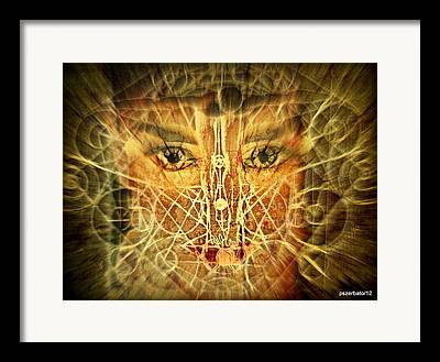 Cognitive Processes Digital Art Framed Prints