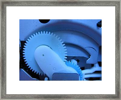 Cogs Of The Machine Framed Print by Rebecca Hassinger