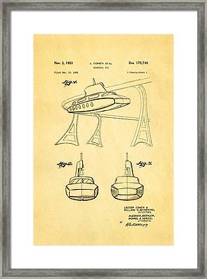 Cohen Monorail Toy Patent Art 1953 Framed Print by Ian Monk
