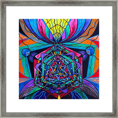 Coherence Framed Print by Teal Eye  Print Store