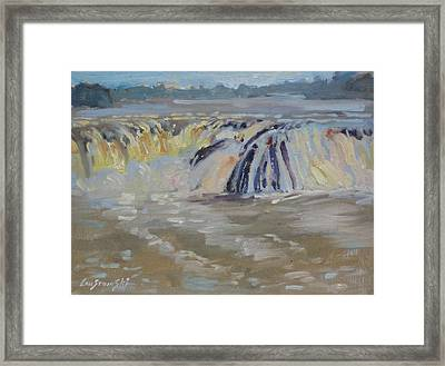 Framed Print featuring the painting Cohoes Falls by Len Stomski