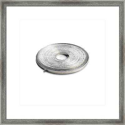 Coil Of Magnesium Ribbon Framed Print by Science Photo Library