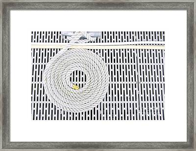 Coiled Abstract Framed Print