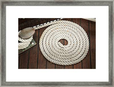 Coiled Framed Print