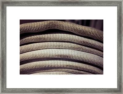 Coiled Fire Hose Profile Framed Print