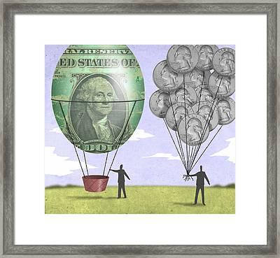 Coin Balloons Framed Print by Steve Dininno