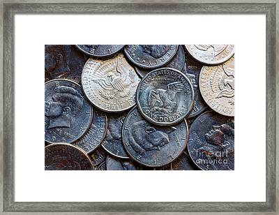 Coin Collection Framed Print