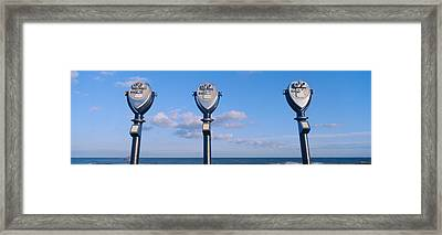 Coin-operated Viewing Binoculars Framed Print by Panoramic Images