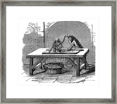 Coin Production Framed Print