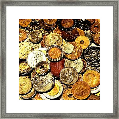 Coinage Framed Print by Benjamin Yeager