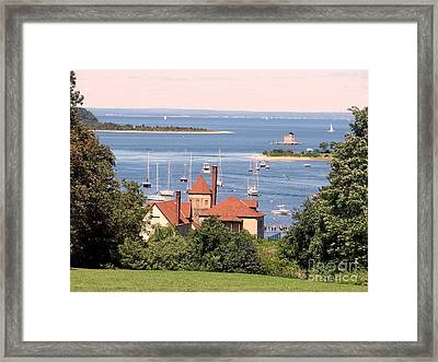 Coindre Hall Boathouse Framed Print
