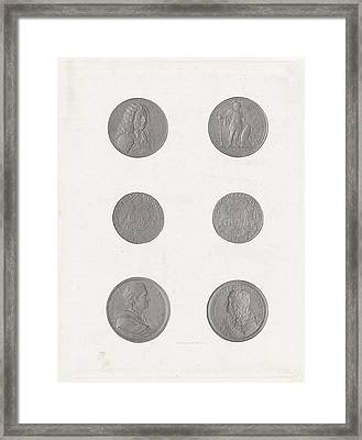 Coins And Tokens, Jan Dam Steuerwald Framed Print by Jan Dam Steuerwald