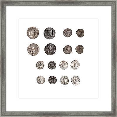 Coins From The Shimon Bar Kokhba Revol Framed Print