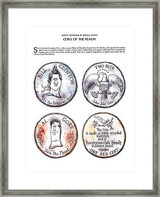 Coins Of The Realm Framed Print by Ronald Searle