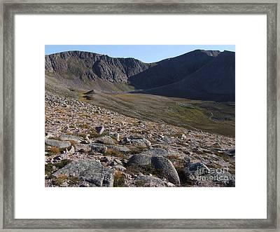 Coire An T' Sneachda - Cairngorm Mountains Framed Print by Phil Banks