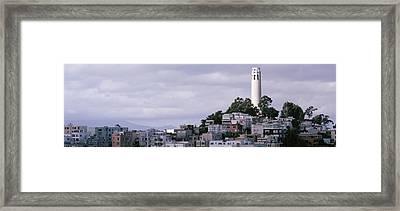 Coit Tower On Telegraph Hill, San Framed Print