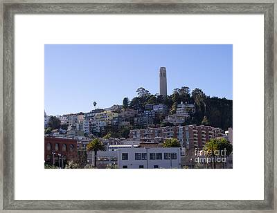 Coit Tower San Francisco California Dsc2000 Framed Print by Wingsdomain Art and Photography