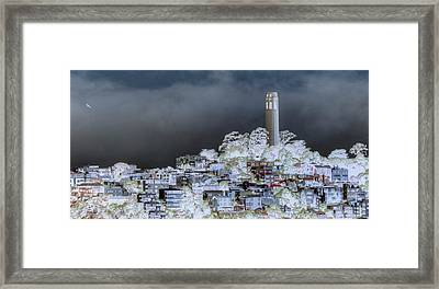 Coit Tower Surreal Framed Print by Diego Re