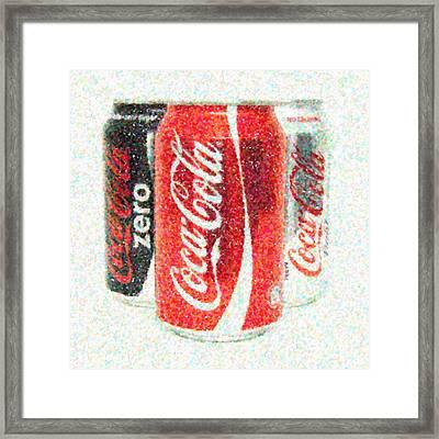 Coka Cola Pointillism Framed Print by Antony McAulay