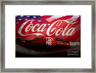 Coke Ads Life Framed Print