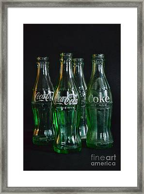 Coke Bottles From The 1950s Framed Print